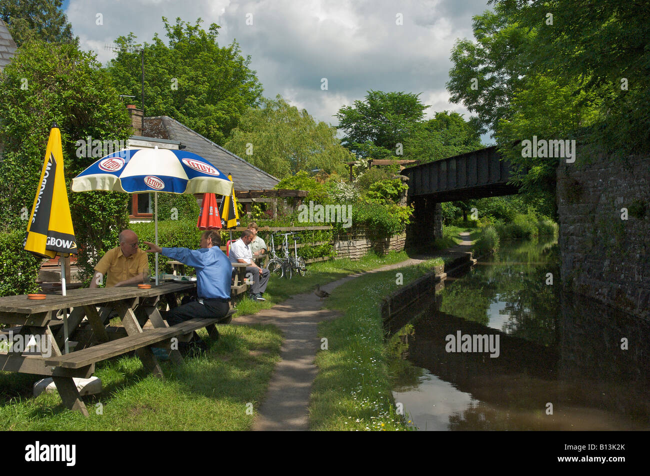 Monmouth and Brecon Canal at Talybont-on-Usk - Stock Image