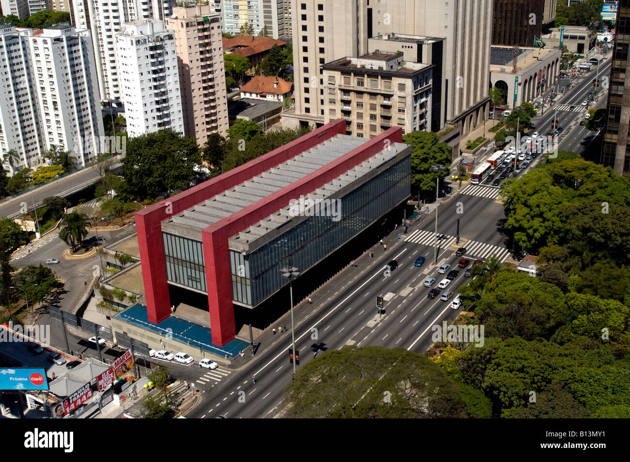 Sao Paulo S Art Museum Masp Located At Paulista Avenue Sao Paulo Brazil