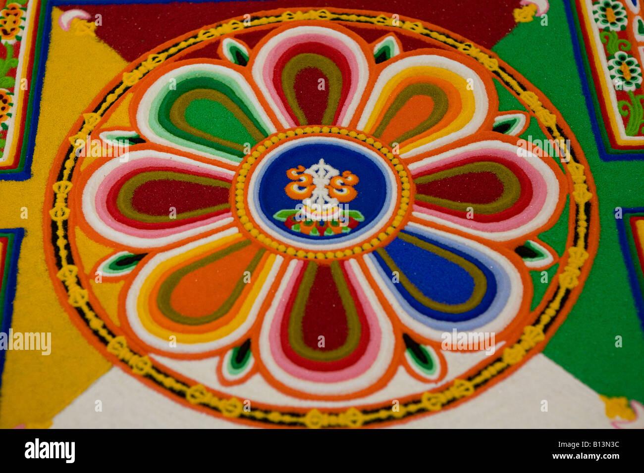 A Buddhist Sand Mandala Nottingham UK Europe - Stock Image