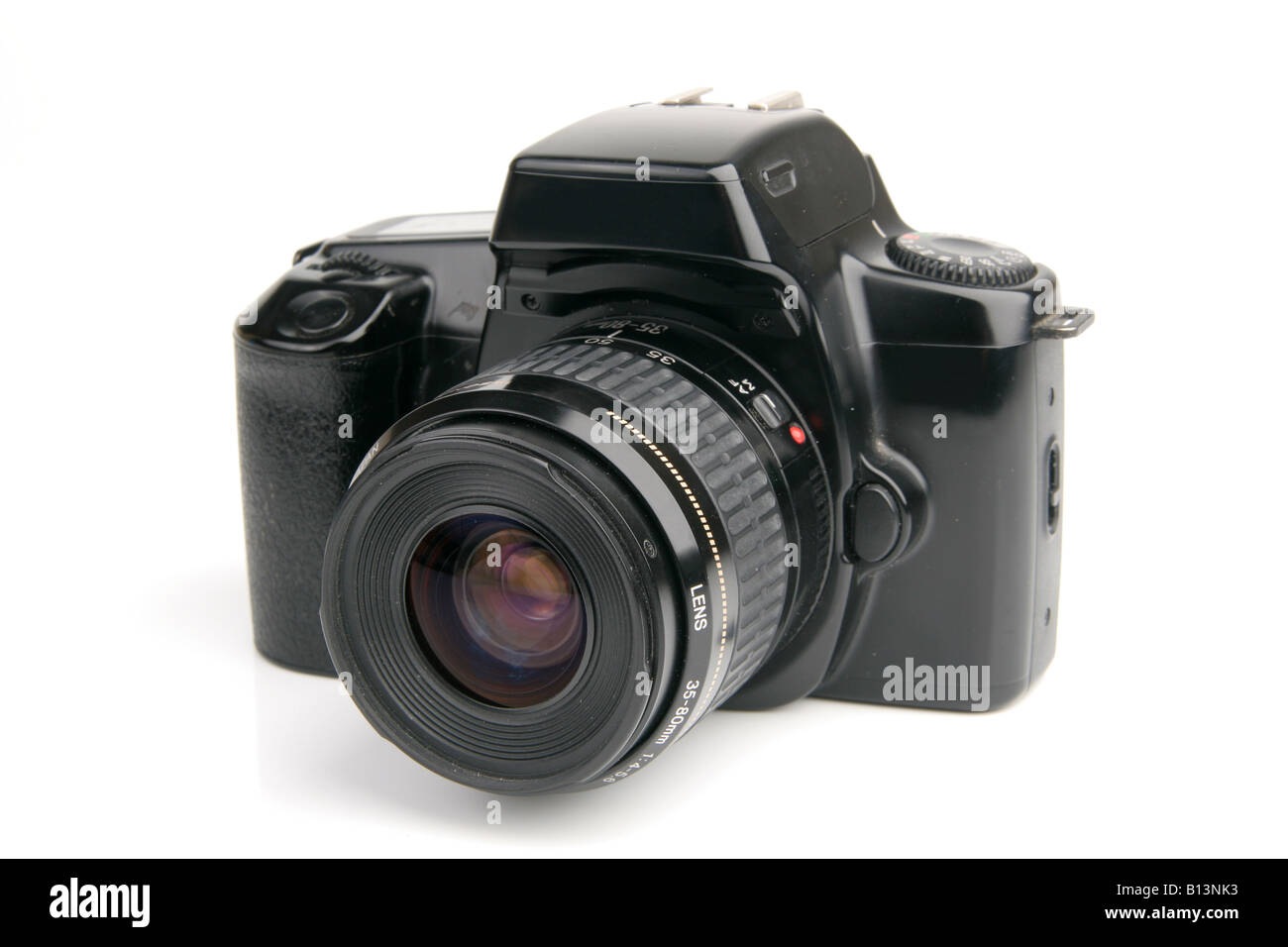 SLR camera on white - Stock Image