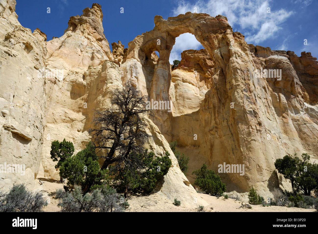 Grosvenor Arch near Kodachrome Basin State Park Utah Stock Photo