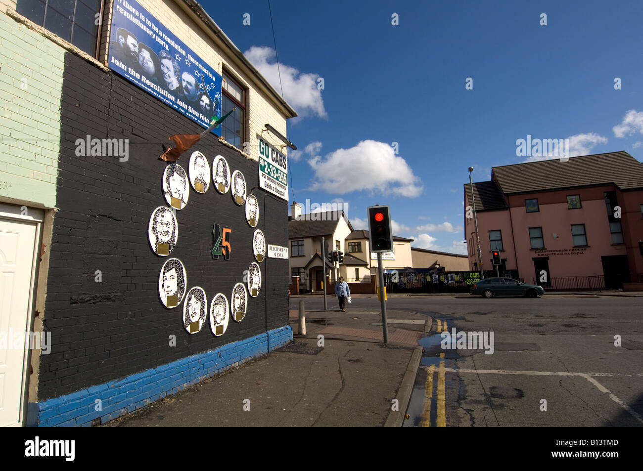 Republican murals Falls Road Belfast Stock Photo