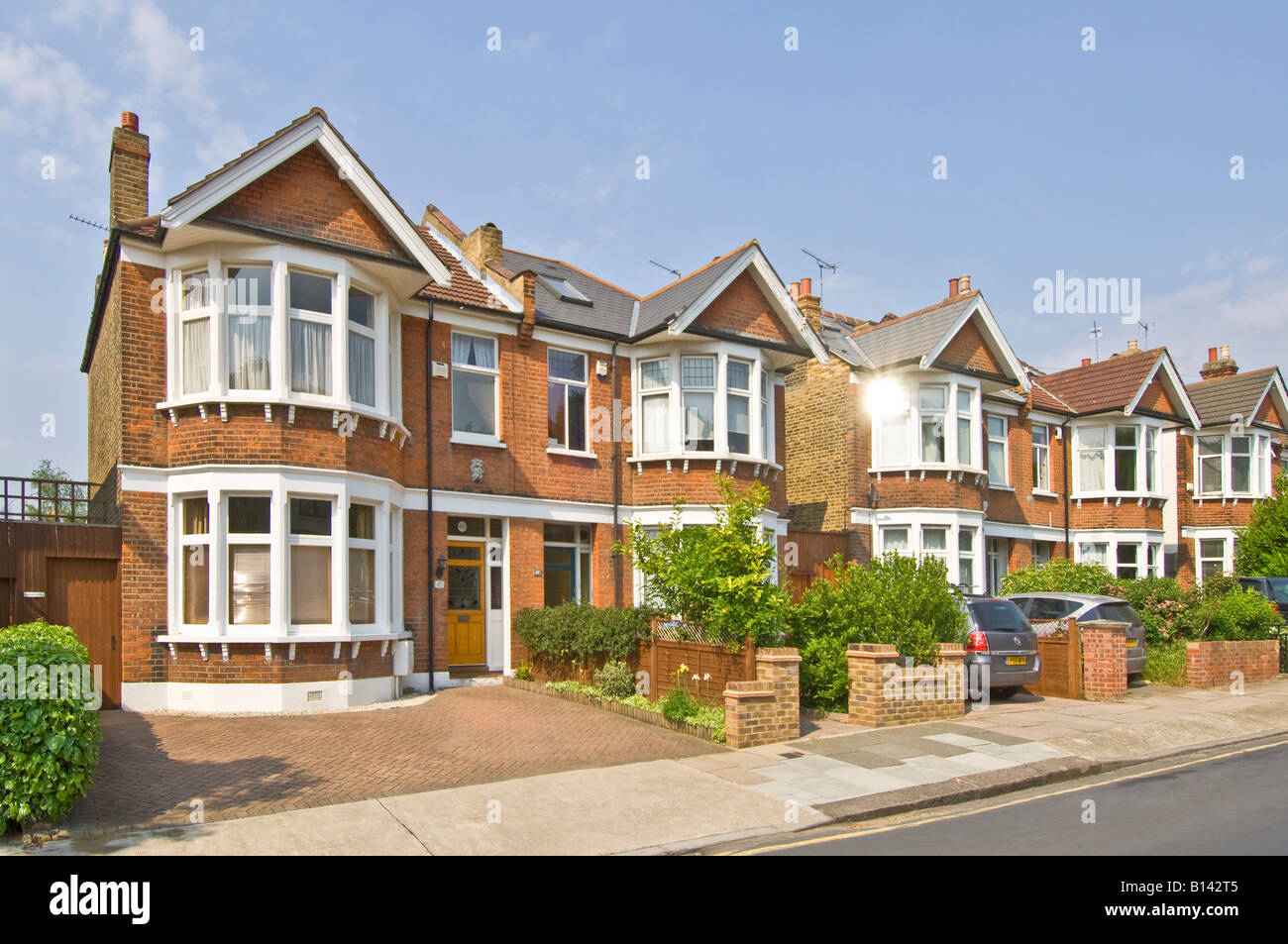A Row Of Typical 3 Bed Semi Detached Victorian/Edwardian Houses In  Suburbia.