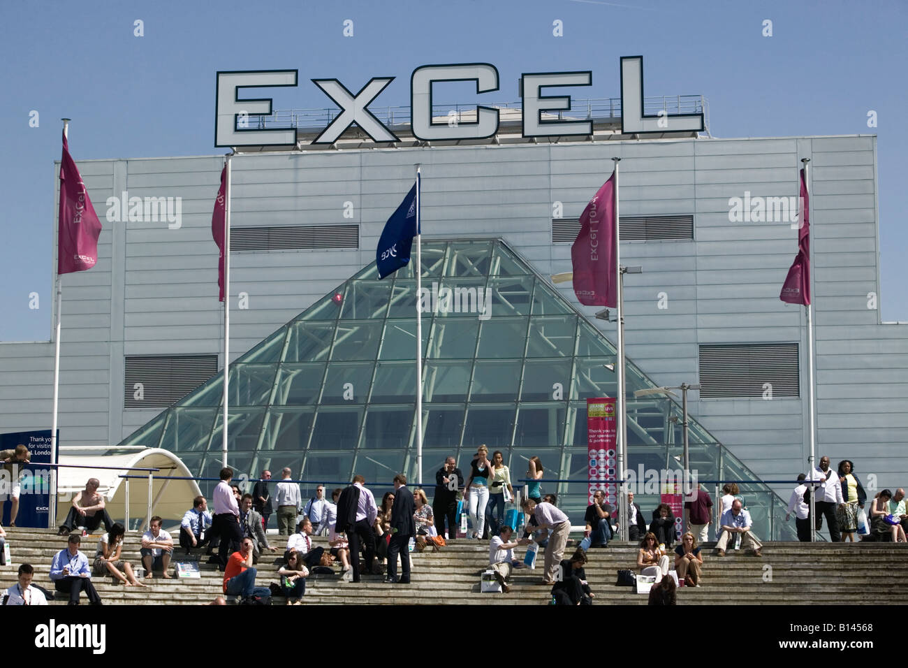 ExCel Exhibition Centre in London Docklands - Stock Image