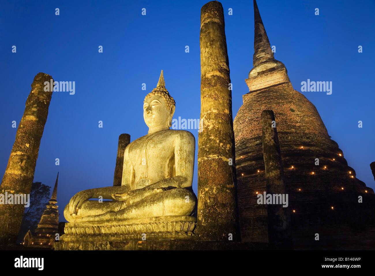 Wat Sa Si - Sukhothai, Sukhothai province, THAILAND - Stock Image