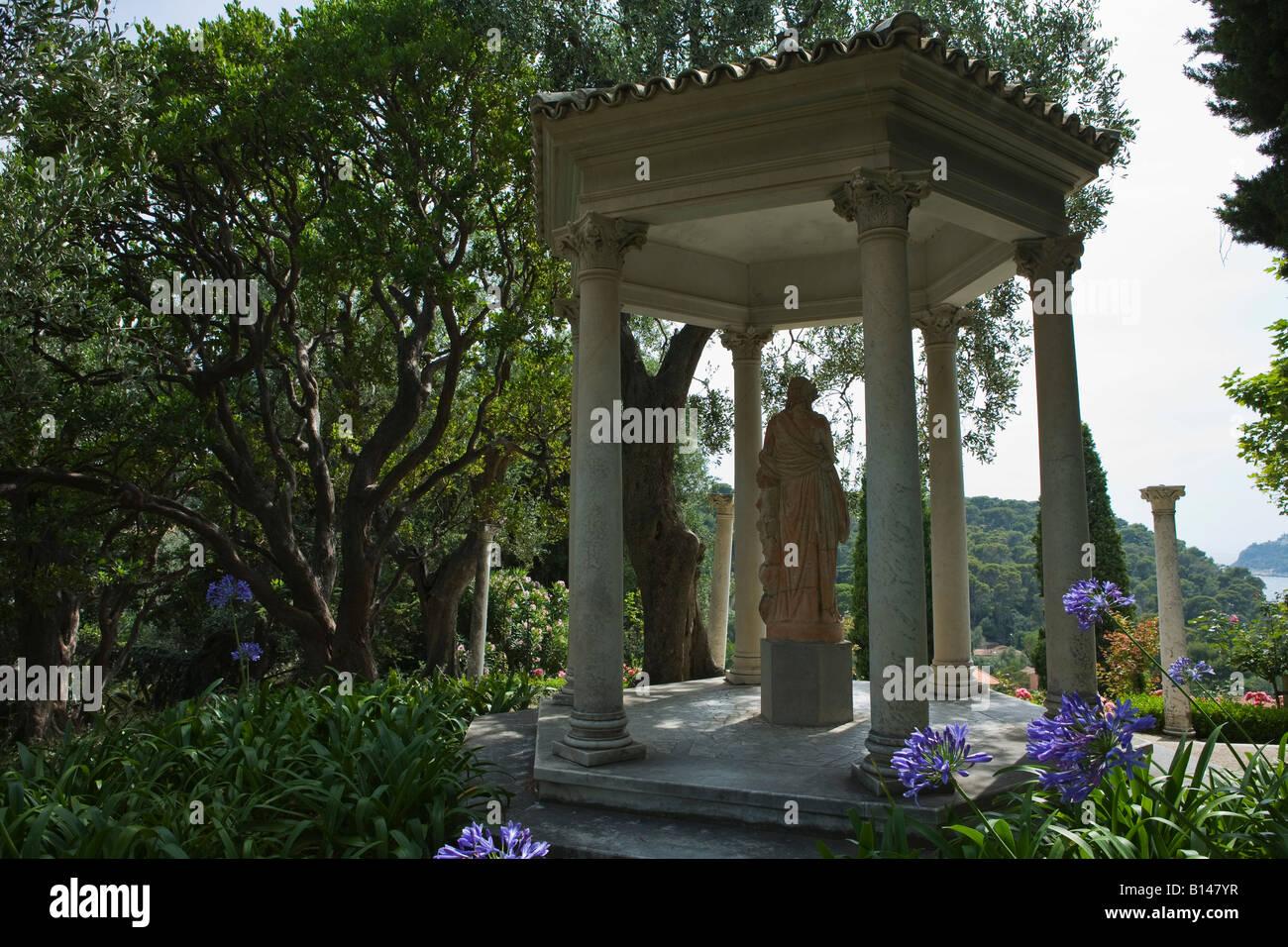 Villa Ephrussi de Rothschild, Cap ferrat, France. - Stock Image