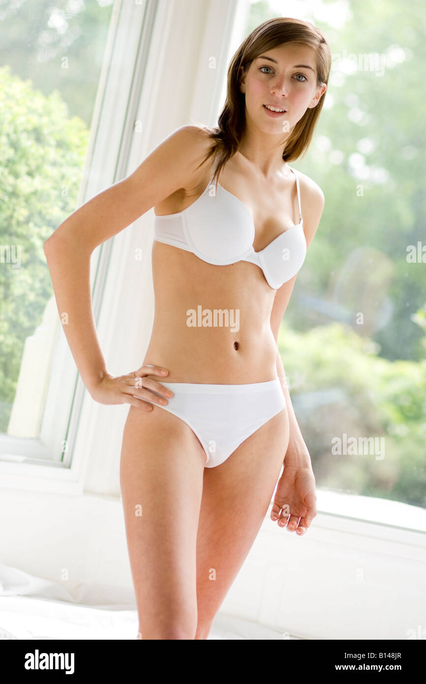 Young Girl Wearing Underwear Stock Photo 17919631 - Alamy-6961