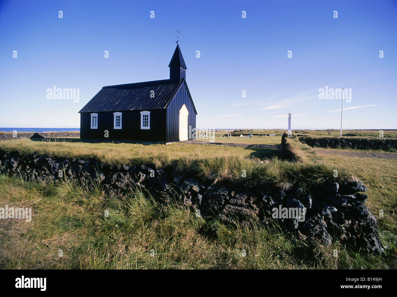 geography / travel, Iceland, Budir, churches, church of Budor, exterior view, Additional-Rights-Clearance-Info-Not - Stock Image