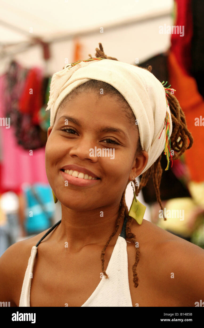 African american woman from Panama City for Editorial Use Only - Stock Image
