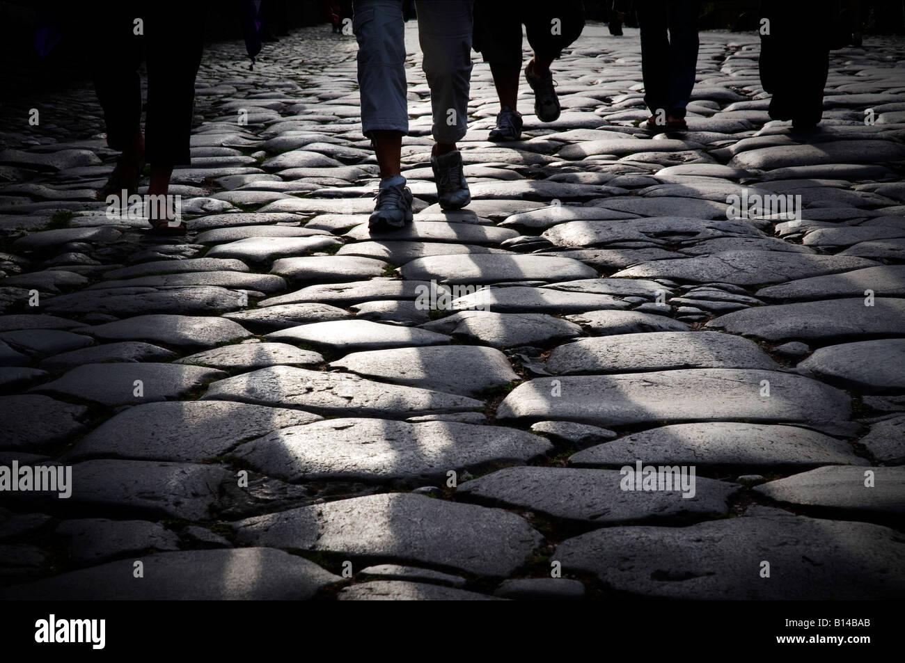 Via Sacra, an ancient road near the Colosseum, Rome - Stock Image