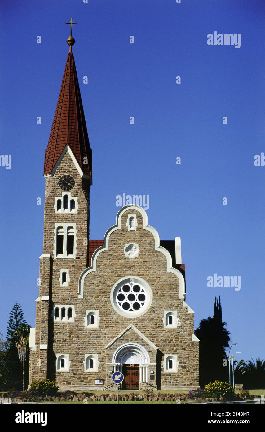 geography / travel, Namibia, Windhoek, churches, Christ church, built: 1910 by Gottlieb Redecker, exterior view, - Stock Image