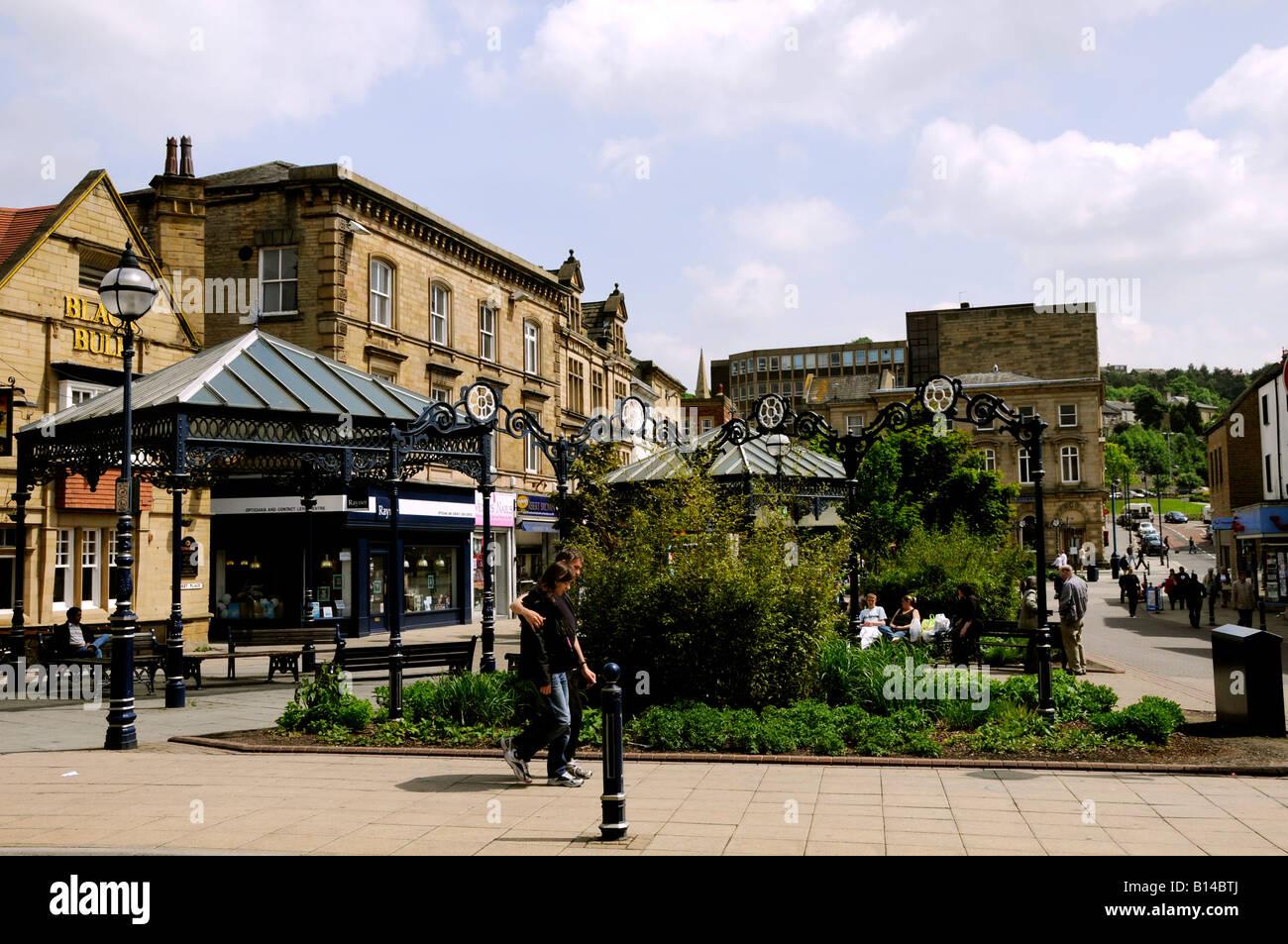 Market Place Dewsbury - Stock Image