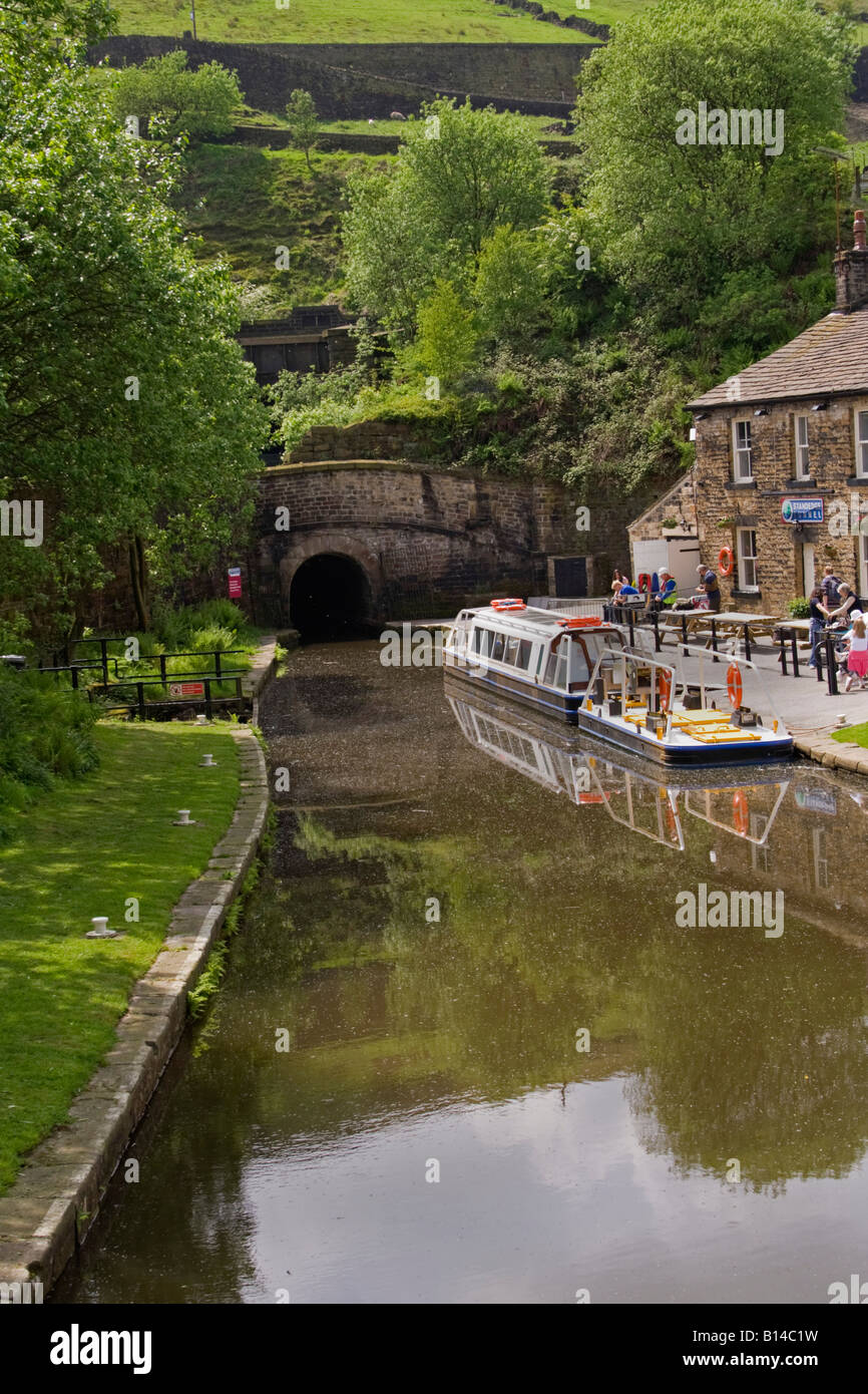 the entrance to standedge tunnel in marsden - Stock Image