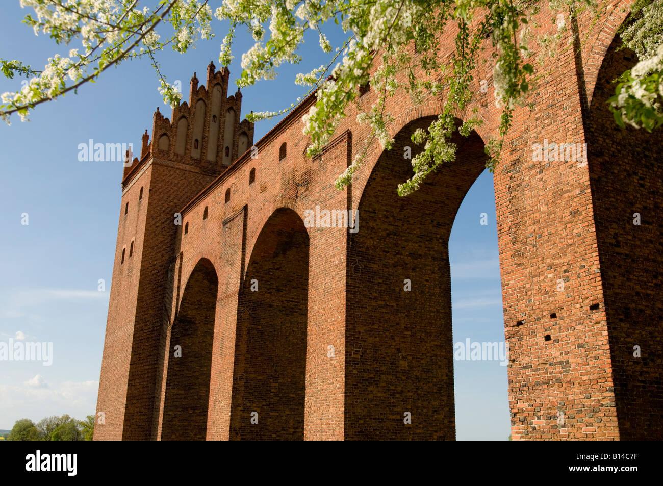 Teutonic castle (14th century), Kwidzyn, Pomeranian Voivodeship, Poland - Stock Image