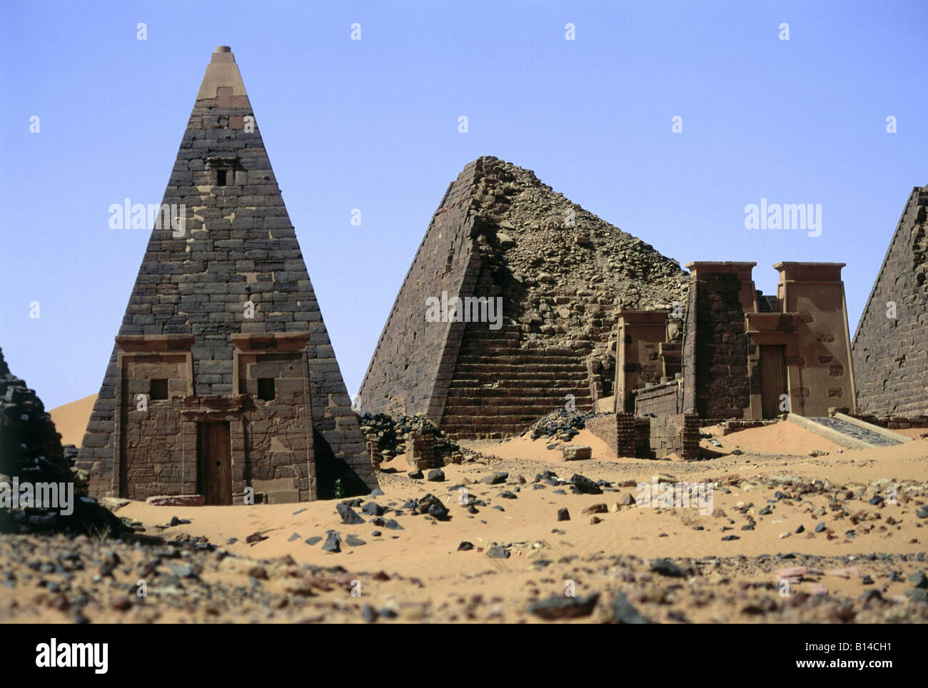 geography / travel, Sudan, Shandi, buildings, pyramids of Meroe, Additional-Rights-Clearance-Info-Not-Available - Stock Image