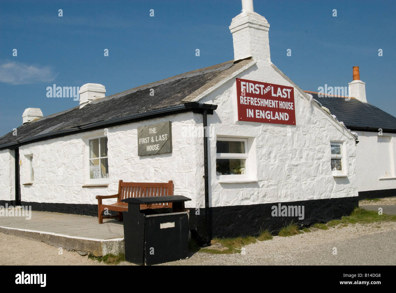 Land's End, Cafe, Cornwall, U.K. - Stock Image