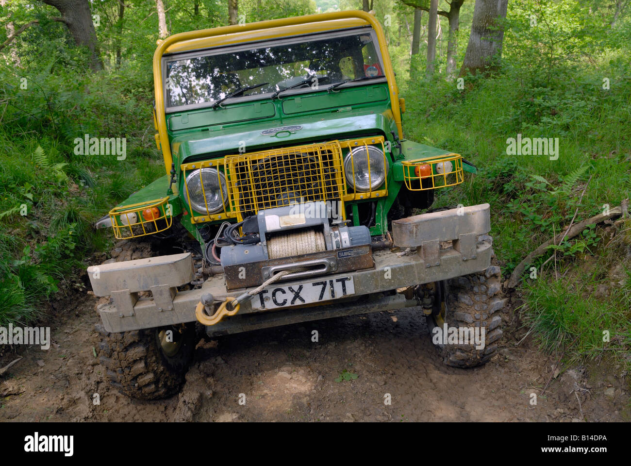 strongly modified land rover 88 lightweight competing in the alrc