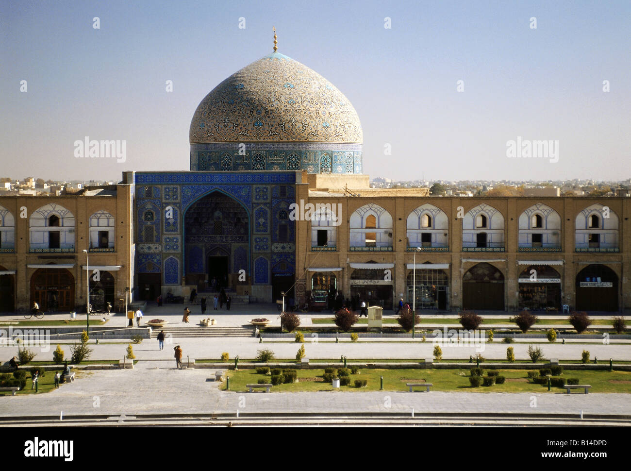 geography / travel, Iran, Isfahan, mosques, Sheik Lotf Allah Mosque, built: 1615 by Shah Abbas I of Persia, exterior - Stock Image