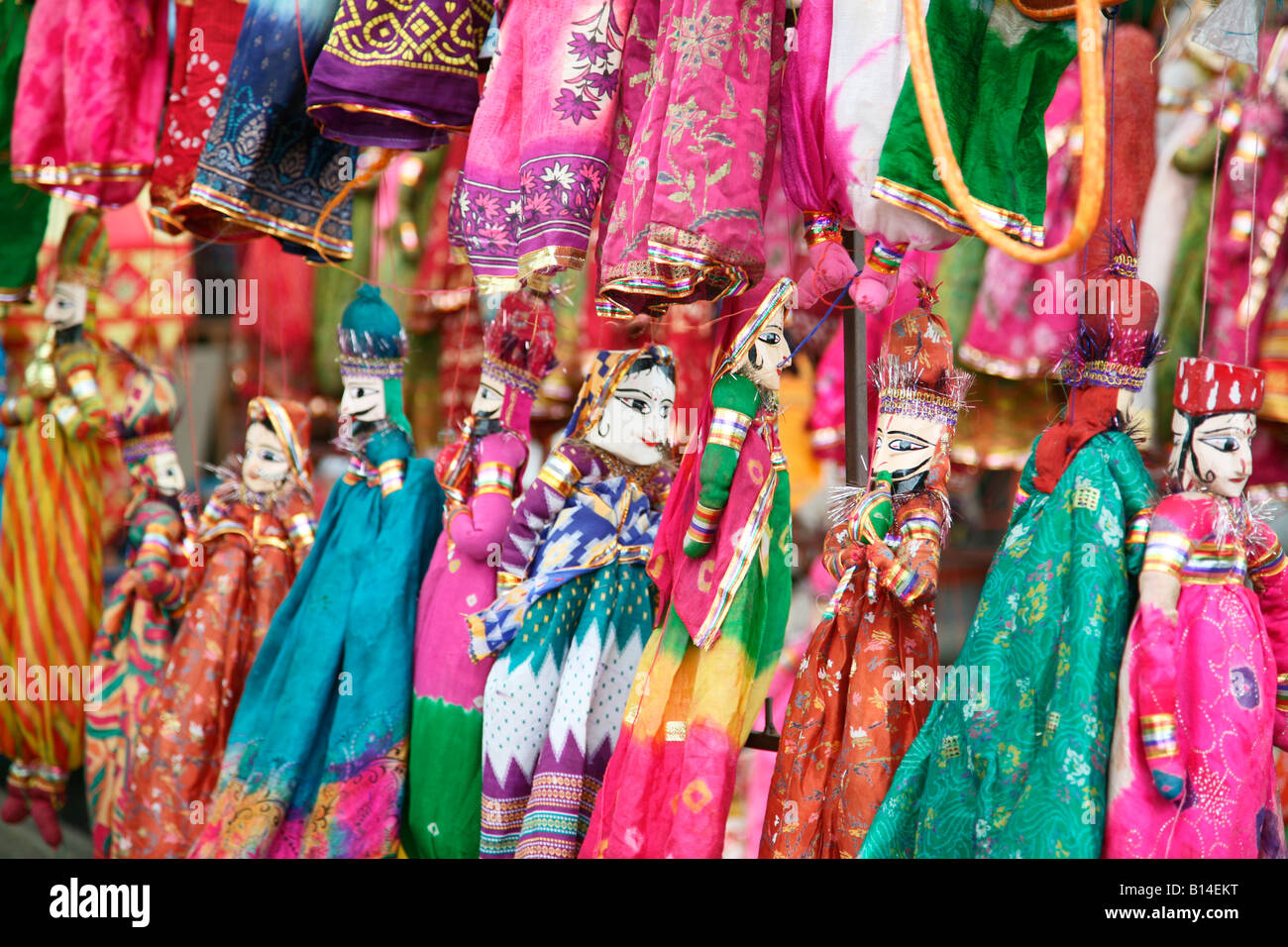 Handicrafts From Rajasthan On Sale In Fort Kochi Market India Stock