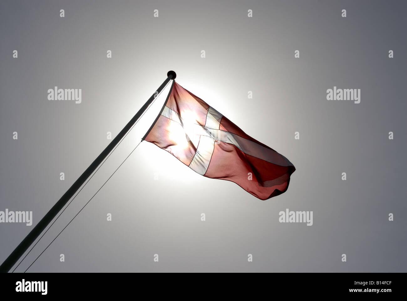 DANISH FLAG - Stock Image