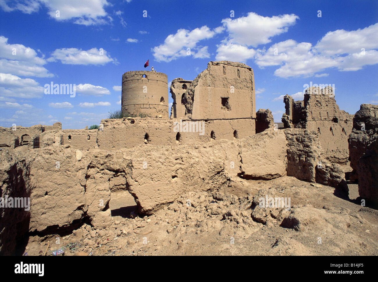 geography / travel, Oman, Manah, buildings, caravansarai, ruins, Additional-Rights-Clearance-Info-Not-Available Stock Photo
