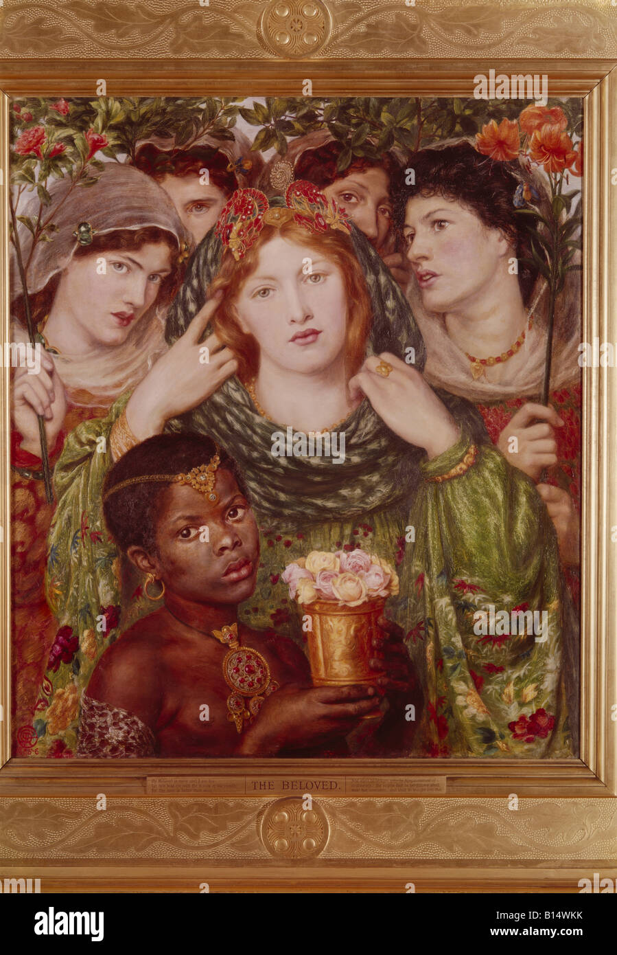 "fine arts - Rossetti, Dante Gabriel (1828 - 1882), painting, ""The Beloved"", 1865 / 66, oil on canvas, Tate Gallery Stock Photo"