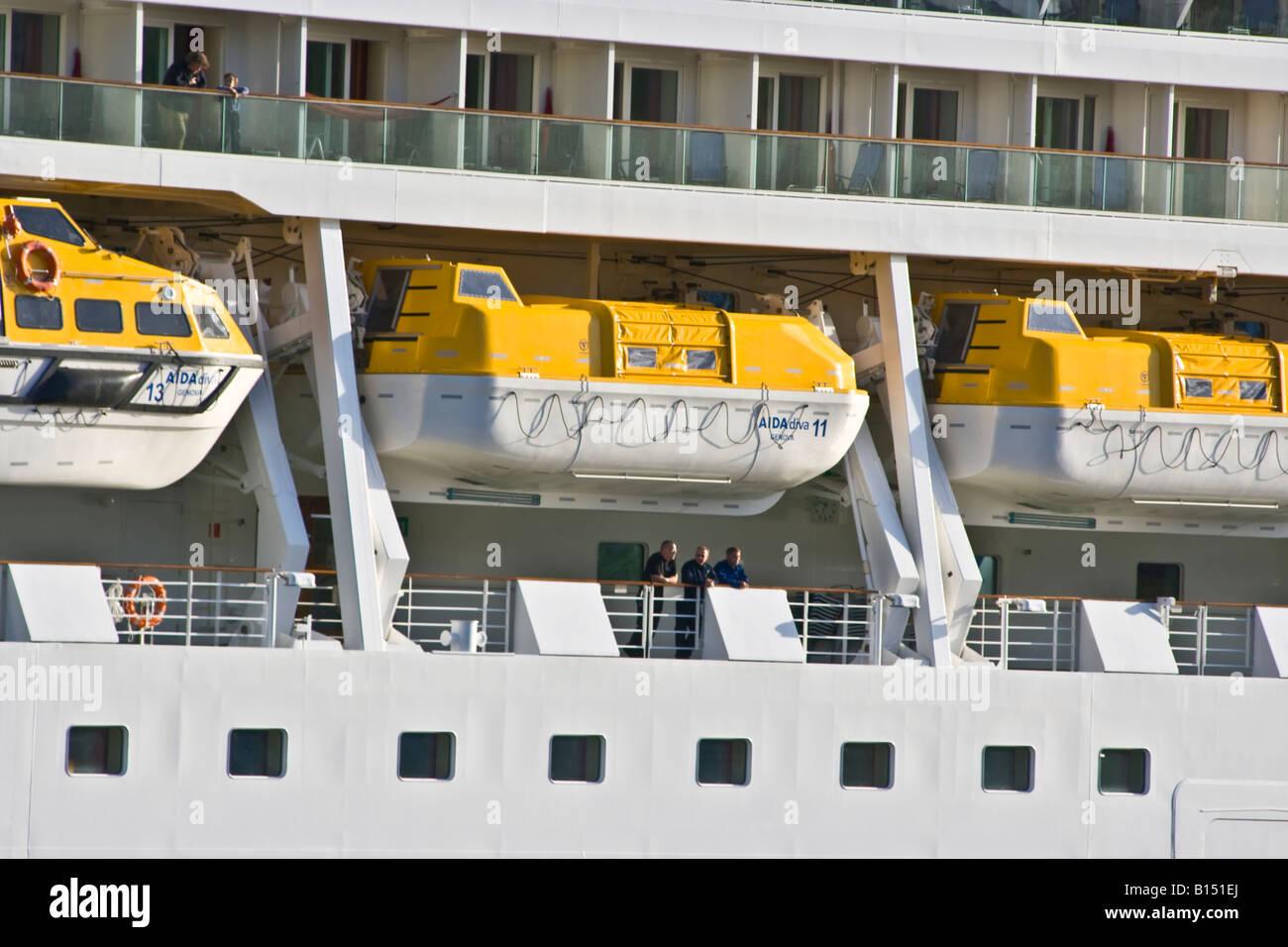 Lifeboat - Aida Diva Stock Photo