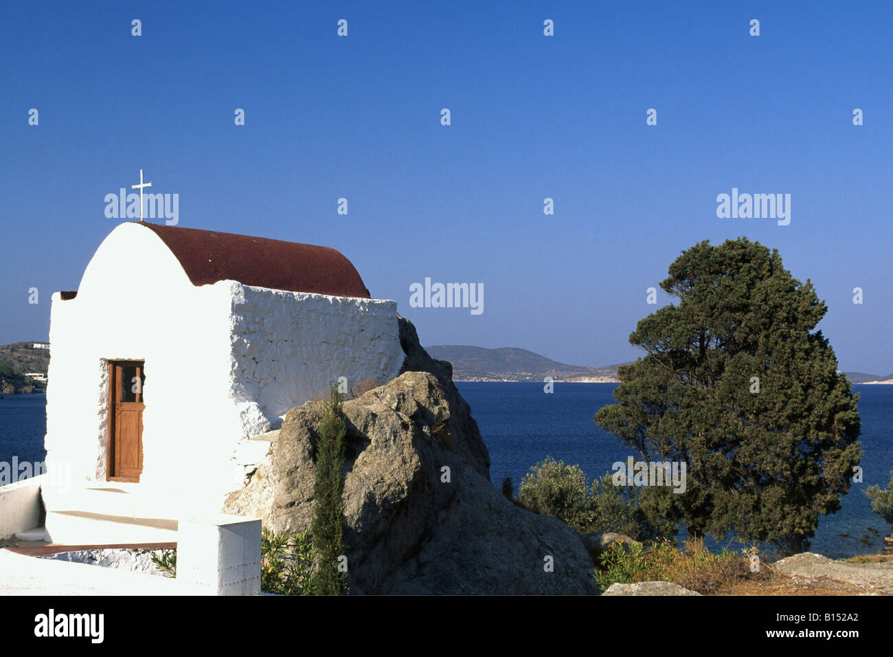 Chapell, Skala, Patmos, Dodecanese, Greece - Stock Image
