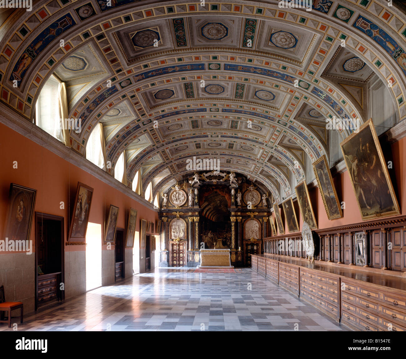 El Escorial Palacio Sacristia Sakristei Stock Photo