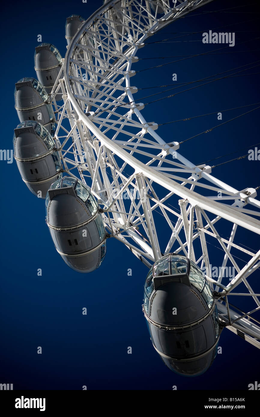 London Eye, from an angle, UK - Stock Image