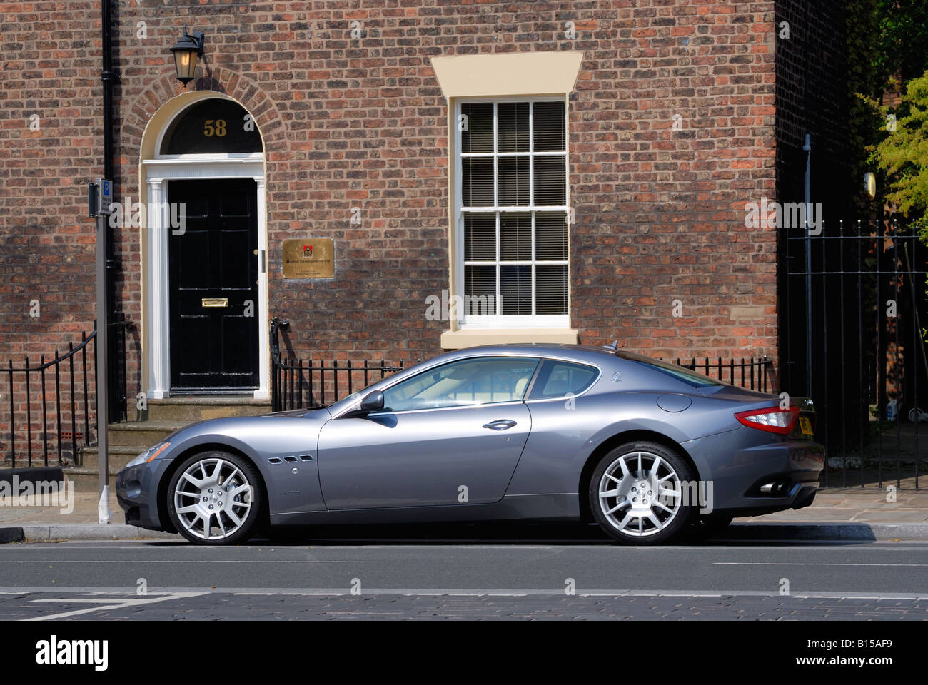 Prestige Car Parked Outside A Business Premises In Liverpool Centre On Hope  Street   Stock Image