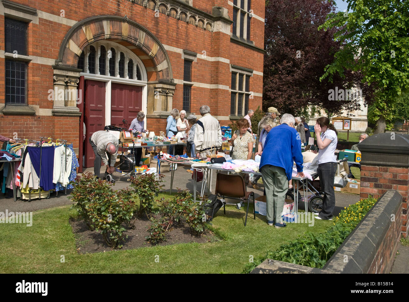 Table top sale for Church Funds Lincolnshire - Stock Image