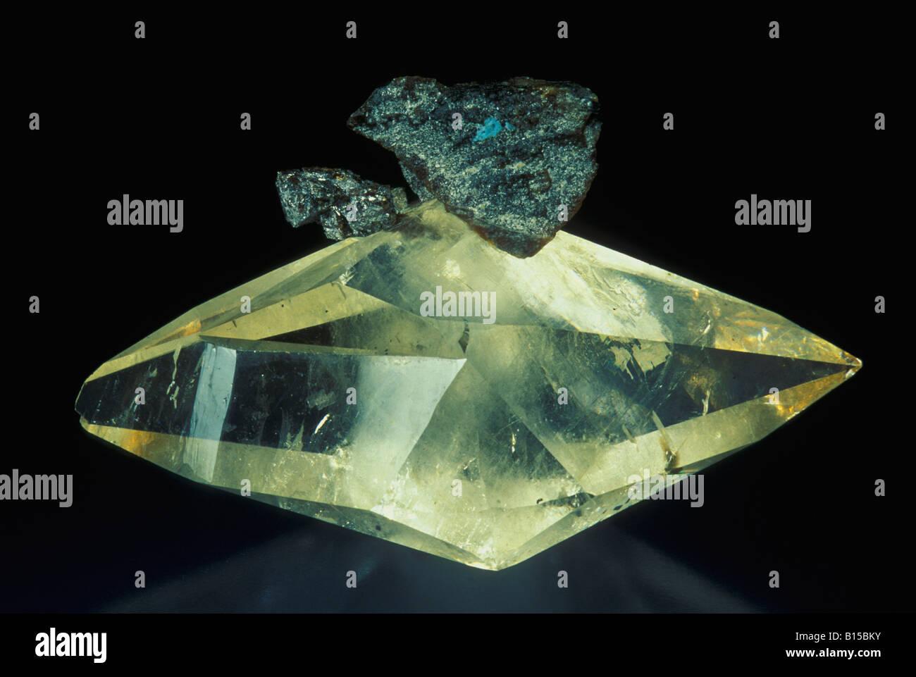 Calcite with Sphalerite - Stock Image