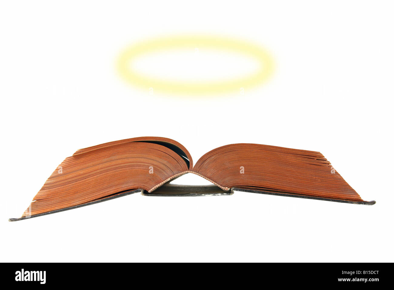 Bible with a halo - Stock Image