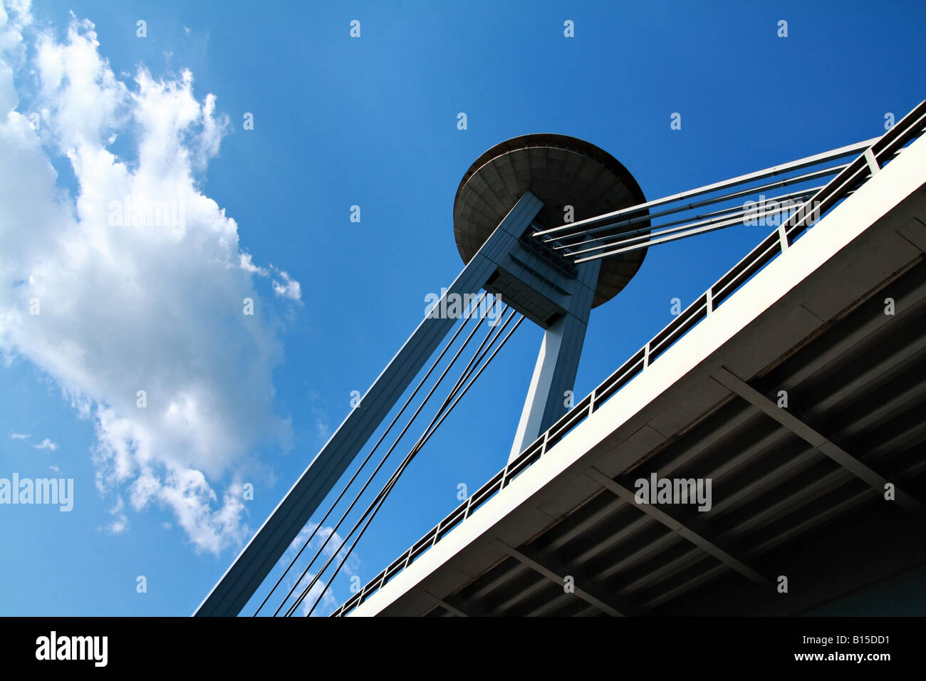 New bridge (Novy most) in Bratislava - Stock Image