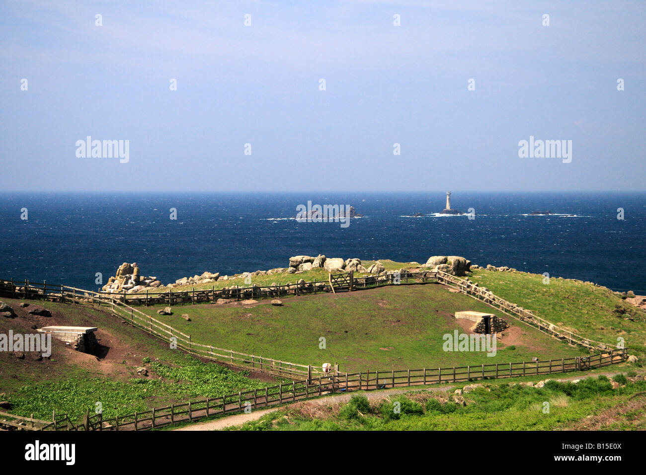 Old farm at Land's End, Cornwall - Stock Image