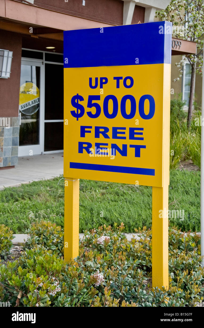 Captivating Free Rent Signs At A Newly Built Office Residential Complex In Orange  California Reflect A Depressed Real Estate Market