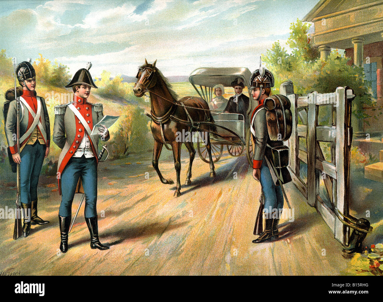 U.S. Army Officers 1802-1810 - Stock Image