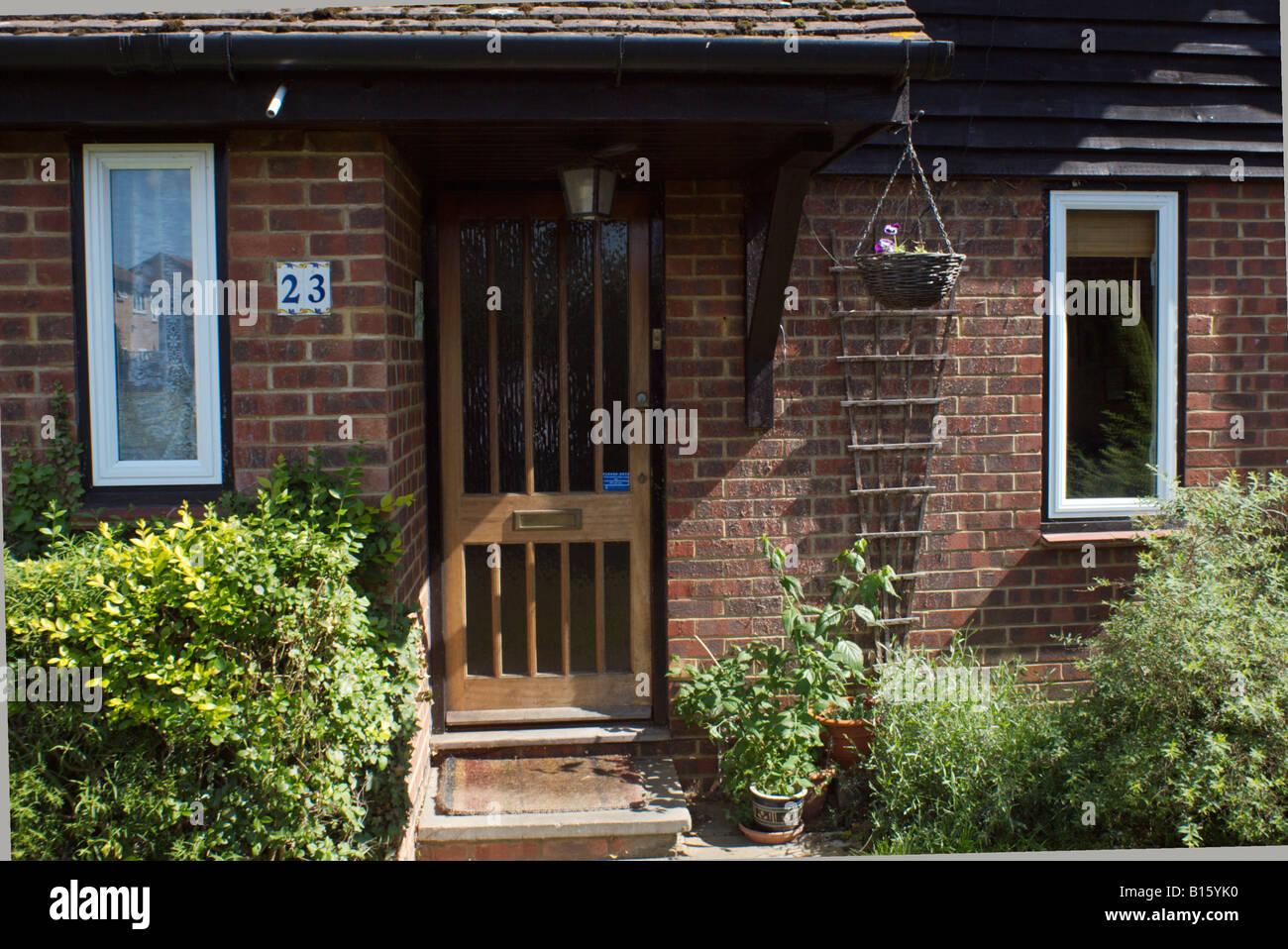 Ordinary house front  in suburban Goldsworth Park Woking Surrey England photographer's own home - Stock Image