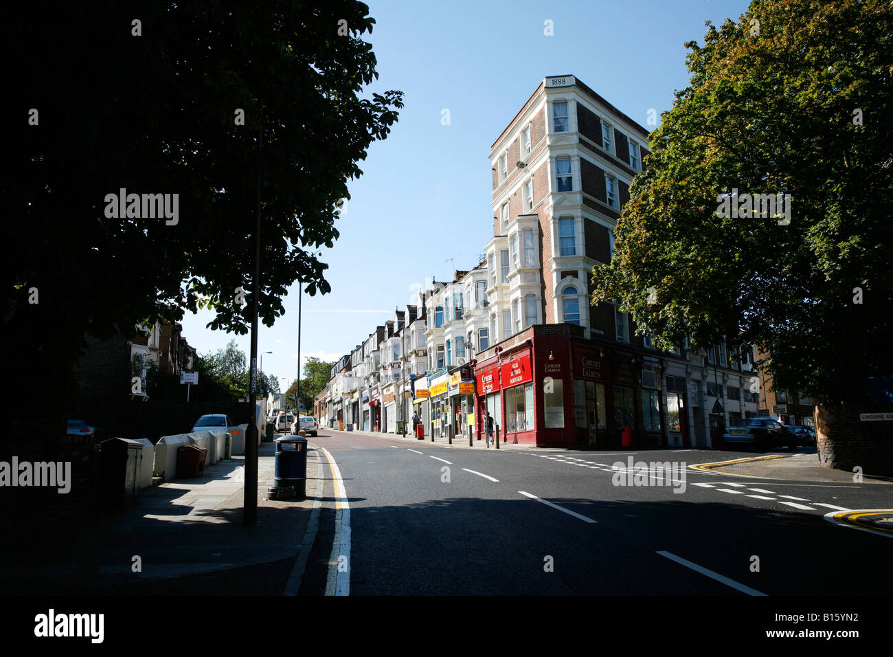 Charlton Church Lane in Charlton, London - Stock Image