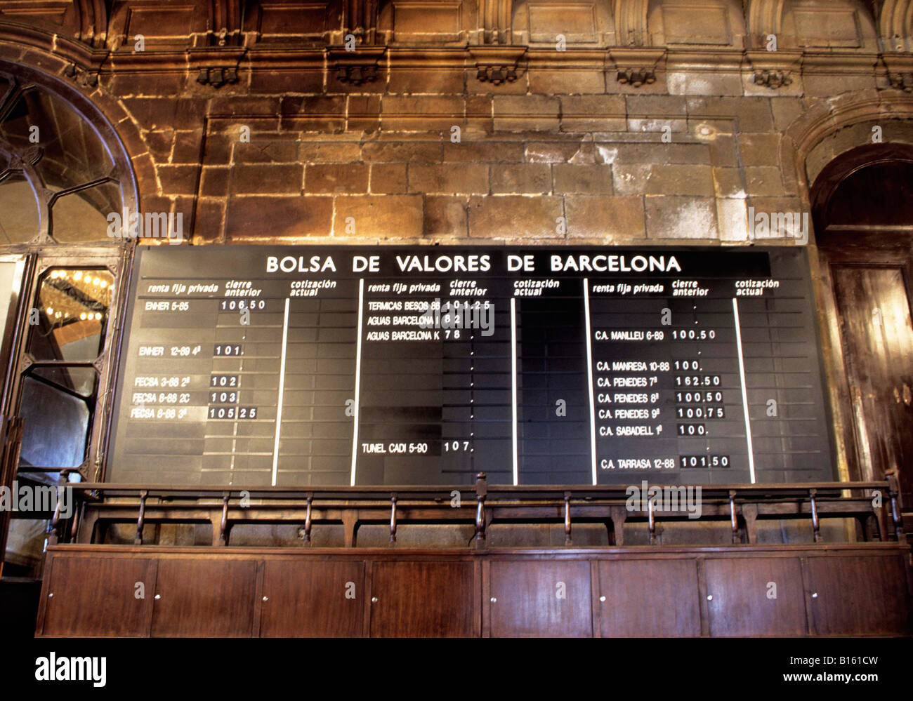 Spain Barcelona La Llotja Palace of Barcelona Old Stock Exchange - Stock Image