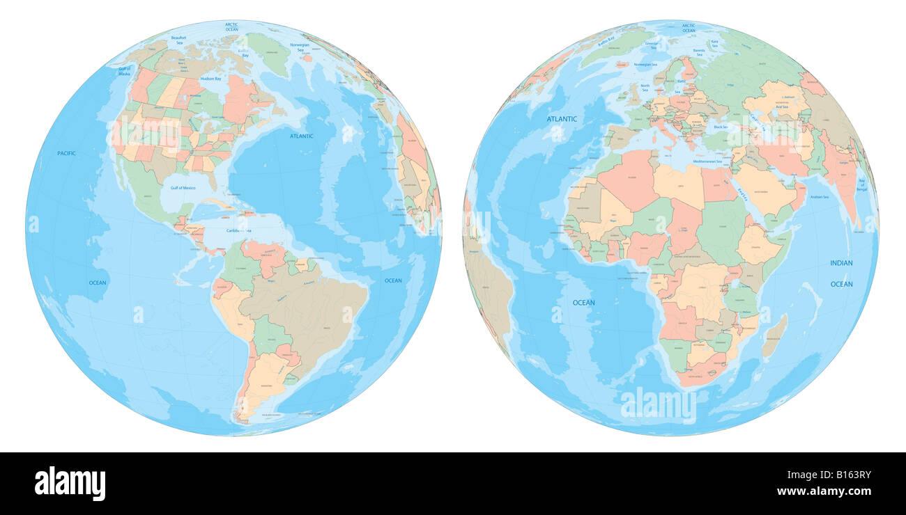 Earth globe ultrahigh resolution real topography rendering two earth globe ultrahigh resolution real topography rendering two angles gumiabroncs Gallery