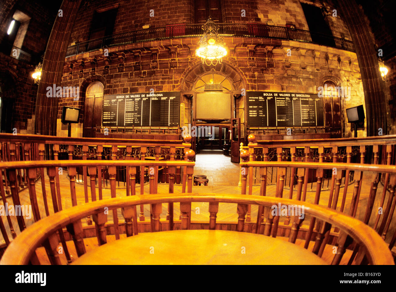 Europe Spain Barcelona La Llotja Palace of Barcelona Old Stock Exchange - Stock Image
