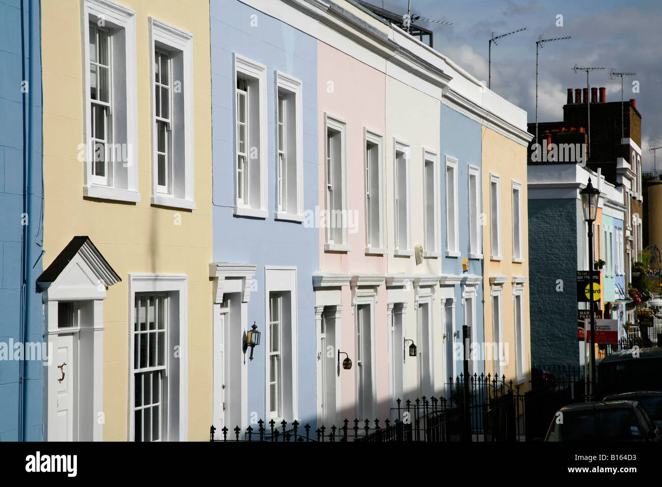 Hillgate Place in Notting Hill, London - Stock Image