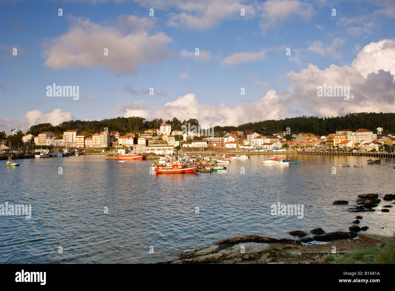 The port of Camariñas in the Galicia region in Spain. - Stock Image