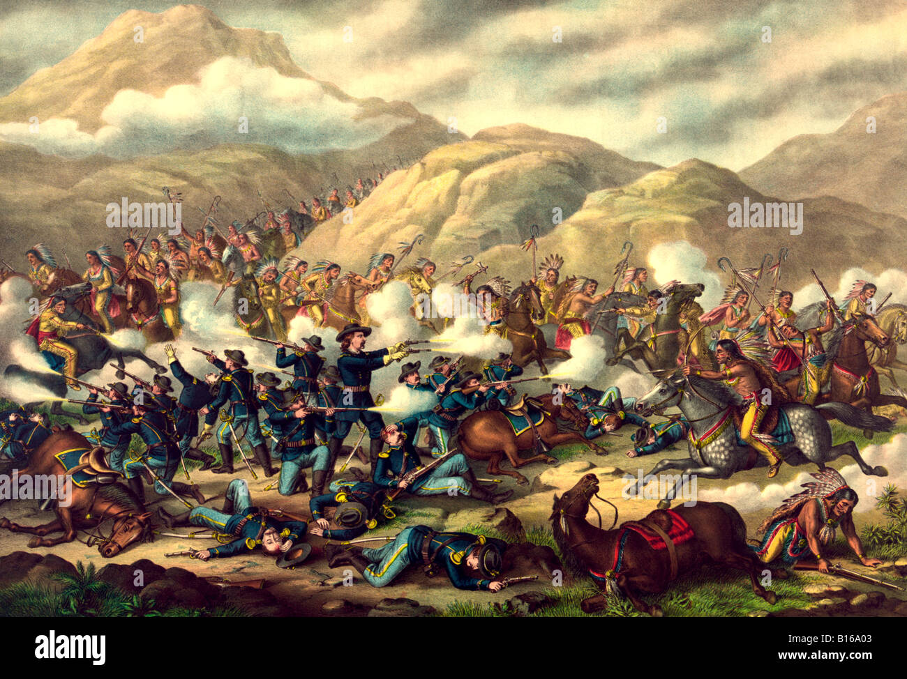 Battle of Little Bighorn - USA - Stock Image