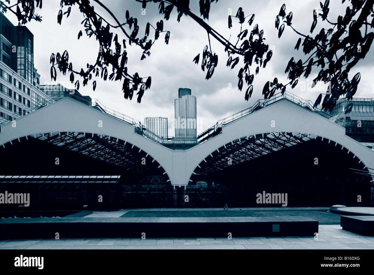 Liverpool Street railway station, Broadgate, London - Stock Image