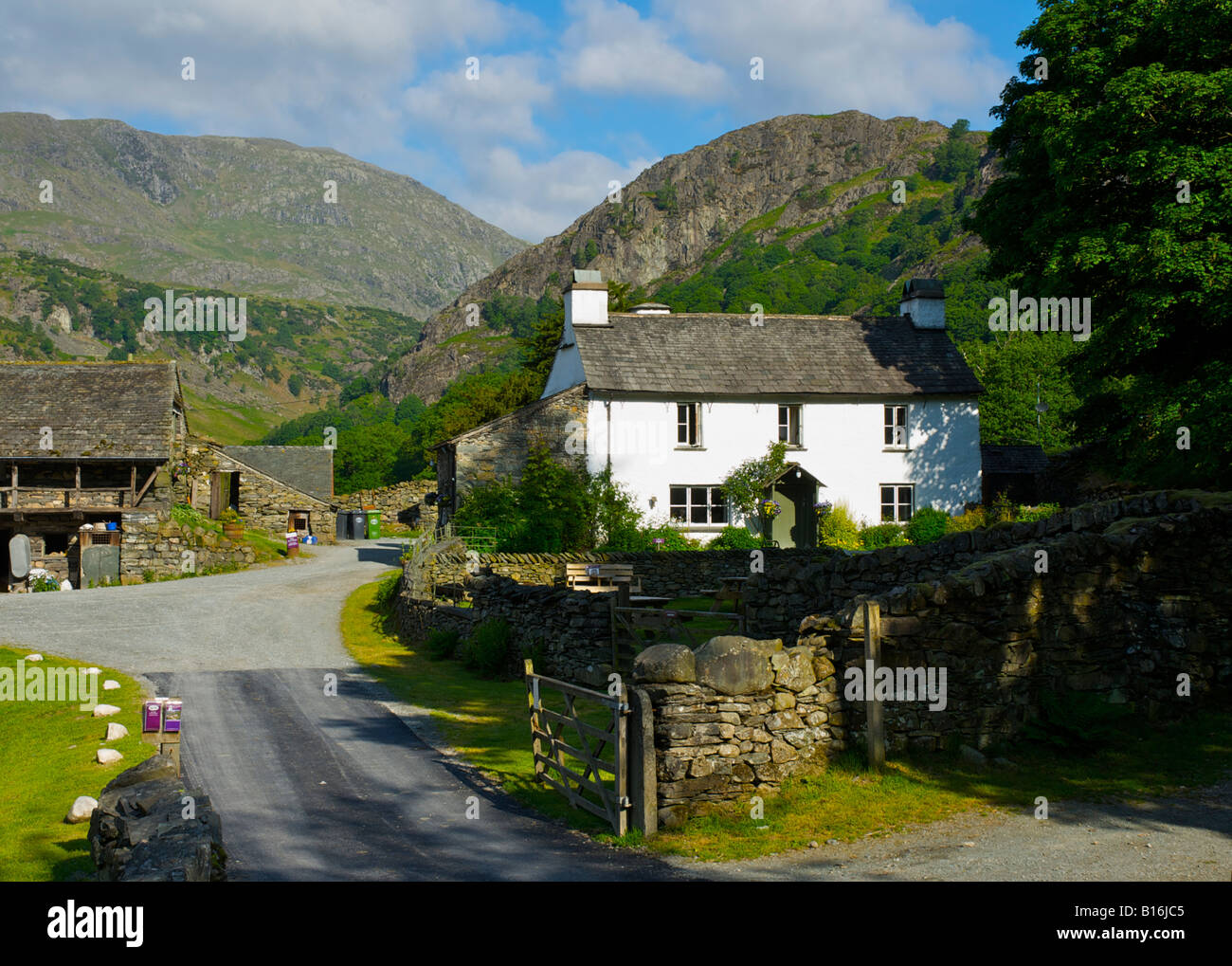 Yew Tree Farm, near Coniston, once owned by Beatrix Potter, Lake District National Park, Cumbria, England UK - Stock Image
