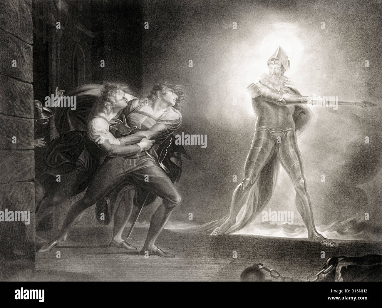 Act 1 scene 4 from Hamlet by William Shakespeare 1564 to 1616 English poet and dramatist - Stock Image