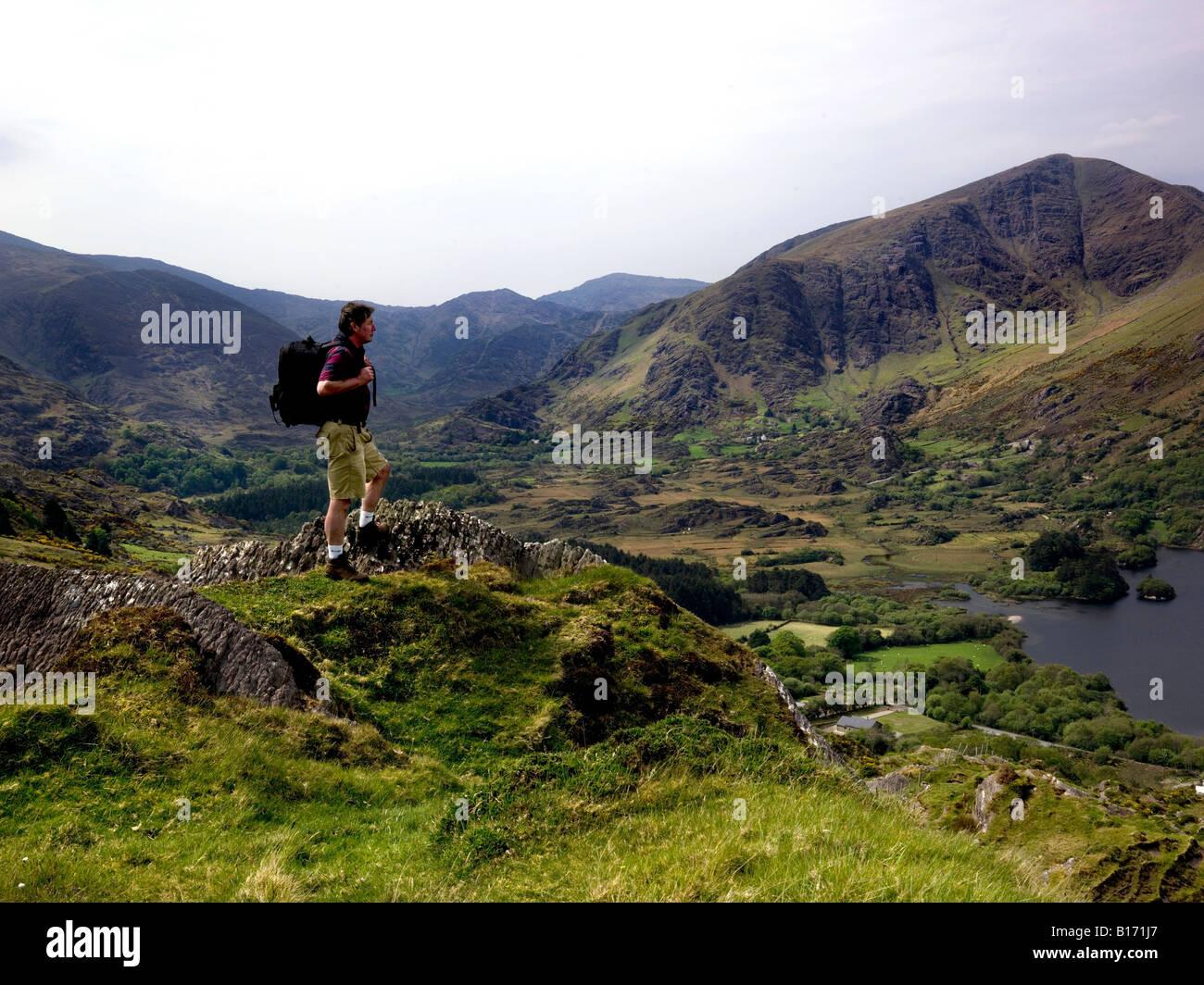 Glanmore Lake Healy Pass Beara Peninsula Kerry - Stock Image